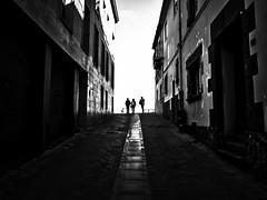 Is not light better than darkness? (muntsa-joan-BW) Tags: blackandwhite bw bnw street streetphoto streetphotography light shadows city calle catalonia ciudad people