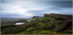 Another World (Patrick Giardina) Tags: grass landscape sky mountain hills colline wind vento rain pioggia 2013 scozia scotland skye quiraing rocks rocce strada road colori colors summer estate sunrise alba cielo nuvole clouds water acqua nature natura lake lago