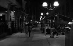 night walk (Gabo Barreto) Tags: night bilbao paisvasco basquecountry street lamppost streetlights canon a1 fd analoguephotography 135 35mm slr filmisnotdead trix ishootfilm pushprocessing selfdeveloped scannedfromfilm