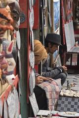 0768 Souvenir Market (Hrvoje Simich - gaZZda) Tags: outdoors people man vendor sellers market kathmandu nepal travel nikon nikond750 nikkor283003556 gazzda hrvojesimich