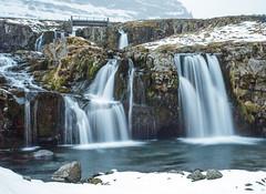 The upper falls near Kirkjufell. (Chris Firth of Wakey.) Tags: kirkjufell iceland waterfalls