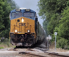 Well Lit On The Rock? (AdamElias14) Tags: csxt3180 csxnewrocksub morrisil sand generalelectric csxt q314 csxq314