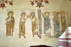 Smiling saints (aniko e) Tags: fresco murals byzantine church hungary csaroda bereg building history architecture saints damian john peter paul helena cosmas