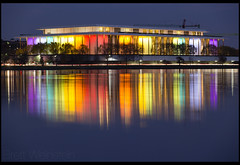 Honors, Pride (Nrbelex) Tags: canon dslr 5dmkiii nrbelex ef70200mm 70200mm 70200mmf28 canon70200f28l 5diii washington dc washingtondc reflection water widegamut adobergb argb widecolorspace longexposure kennedycenter johnfkennedycenterfortheperformingarts kennedycenterfortheperformingarts thekennedycenter thekennedycenterhonors kennedycenterhonors rainbow lights