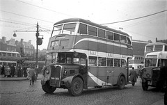 "Manchester Corporation Crossley Mancunian ""Streamliner"" 554. (island traction) Tags: wartime mancunian buses bus prewar war pre engined engine oil vr6 crossley corporation manchester streamline streamliner"
