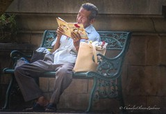 Seizing this moment (stormymayen) Tags: relax oldman park reading bench storybook