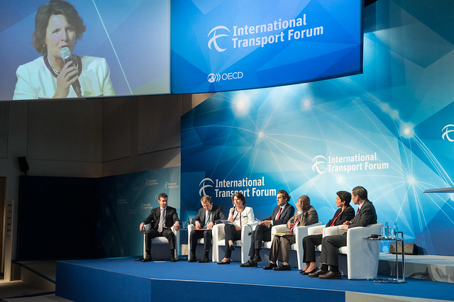 Plenary participants listen to Anne Berner speak