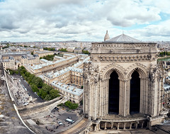 Paris from the top of Notre-Dame