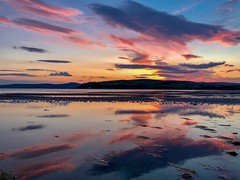 Mirrored Sunset (iPhone) (darrenjcampbell) Tags: ettrickbay europe unitedkingdom greatbritain isleofbute scotland mirroreffect reflection sea sunset iphonex