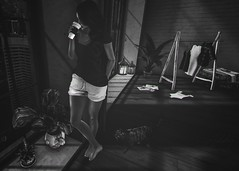N E W    Y O R K (Addy Cross) Tags: maitreya lara pixel mode apartment new york deaddollz dustbunny theloft applefall rkkn tresblah anaposes brunette reflective sl slphotography slfashion slphoto bw blackandwhite nutmeg secondlife secondlifephotography digitalart digitalphotography virtualreality avatar girl woman coffee pose bento mesh doux hair quintessentiallyadorablyenglish