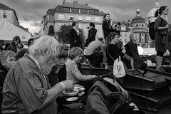 waiting with goulash for the opening of the Navalis in Prague (kadofr) Tags: navalis prague czech moldau river