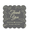 Leaf Crown Grey Thank You Sticker (Set of 25 pcs) (Gift Elements) Tags: gifttags wedding stickers weddingtags weddinggifttags weddingstickers thankyou leaf leaves leafcrown grey giftwrapping favour favor favorsticker weddingparty creative customise customize personalise giftelements