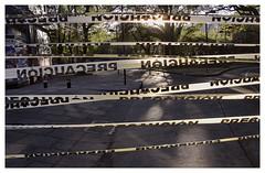 May 31st (oscarinn) Tags: mexico df mexicocity cdmx sunset parquemexico shadows cintas precuacion caution days may blocking light sombras