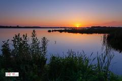 Sunset Zonsondergang Onlanden (Reina Smallenbroek) Tags: reinasmallenbroek sunset zonsondergang onlanden water drenthe netherlands landschap landscape canon leesoftgrad09 leefilters leekstermeer lakeleek