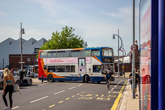 Trident traversing the town's tight streets (mangopearuk) Tags: uk unitedkingdom england hampshire bus buses publictransport transit stagecoach stagecoachsouth stagecoachinthesouthdowns stagecoachhampshire portsmouth southsea havant adl alexanderdennis