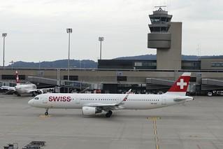 Airbus A321 Swiss HB-IOO ZRH Zurich Switzerland flight to Samara Russia 20180611