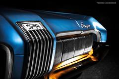 blue 1970 Mercury Cougar Detail (Dejan Marinkovic Photography) Tags: mercury 1970 cougar american classic pony car muscle lightpainting longexposure automotive transportation chrome cardetail grill