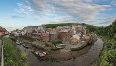 Staithes Harbour (brian_stoddart) Tags: staithes landscape panorama sky harbour river town yorkshire