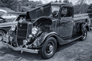1935 Ford Pick-up B&W - Granville, TN Heritage Days Car Show