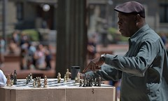 The Chess Master (Scott 97006) Tags: chess pieces men masters game board park