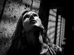 the escape (sonofphotography) Tags: portrait beauty fashion life face clairobscure wonderful people flickr art blur model shooting sharpness light shade shadow blond bw blackandwhite sonofphotography summer english garden natur outdoor underground