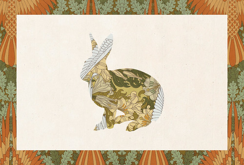 Carte postale // 10x15cm // Lapin