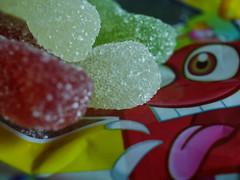 Sour fries (BeMo52) Tags: candy macromondays aroma colour farbe farbstoff frucht fruchtgummi fruitaroma gelatine gummies macro makro süsigkeiten saurepommes sugar sweet zucker