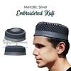 Metallic Silver Embroidered Kufi (TheKufi.com) Tags: kufi kufis kopyah kufiya peci muslim hats prayer caps