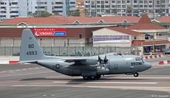United States Navy Lockheed C-130T 164993/BD, VR-64 at RAF Gibraltar (Mosh70) Tags: rafgibraltar raf royalairforce unitedstatesnavy usn lockheed c130t hercules c130thercules 164993bd