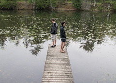 (Jeremy Whiting) Tags: ontario parks provincial pinery beauty nature friendship fraternite dock pier water still river reflections up north michigan canada lake huron great lakes trees pine forest oak savanna mirror canoe trip camping wilderness wild