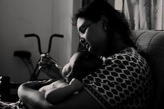Pure love (Rajavelu1) Tags: mother child love affection care motherhood blackandwhitephotography art creative dslr availablelight