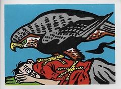 Spook Theatre Sticker ( Leaf 1961 ) (Donald Deveau) Tags: tradingcards sticker leaf horror spooktheatre spookstories bird