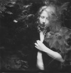 . (hjorr dis) Tags: hjorrdis impossibleproject polaroid doubleexposure longtime lastlight selfportrait bwinstantfilm itype