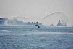 Spray a little (Trev Green) Tags: boat tug mersey liverpool nikon sigma ship