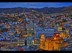 Falling in love with Guanajuato, it´s easy! (Sam Antonio Photography) Tags: mexico night colorful guanajuato city color spanish heritage colonial tourism buildings cityscape valley architecture world landscape housing unesco historic urban skyline lights travel viewpoint landmark scenery worldheritagesite cathedral samantoniophotography
