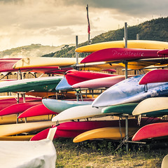 Smettere di remare (Pes.Monica) Tags: sestri levante canoe mare colori pesmonica