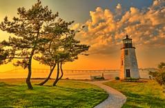 IMG_6246_7_8_easyHDR (Autumn four seasons) Tags: rhode island sunset landscape beautiful scenery newport goatisland lighthouse