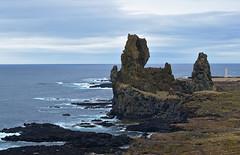 Lóndrangar Cliffs (MW // Photography) Tags: iceland landscape waves cliffs volcanic coast travel sea pinnacles lóndrangar