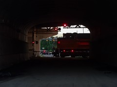 Crossing Pathways (Trebor420) Tags: indiana road tunnel railroadcrossing crossing railroad up train locomotive diesel summer 2018 littlelight pathways may unionpacific