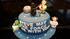 Star Wars Cake (Victorious_Sponge) Tags: star wars cake retirement 21st 30th 40th 50th fan blue darth vader birthday