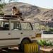 Jon unloads the Land Cruiser at Camp Synchro