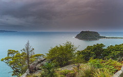 Barrenjoey Headland Seascape (Merrillie) Tags: nature water sydney newsouthwales sea nsw ocean palmbeach kuringgaichasenationalpark views pittwater outdoors westheadlookout brokenbay daybreak westhead sunrise nationalpark clouds earlymorning barrenjoey barrenjoeyheadland waterscape coastal landscape australia coast dawn seascape morning centralcoast lookout sky