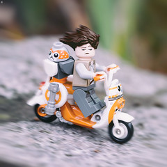 Wind in Rey's Hair (Jezbags) Tags: wind rey hair lego legos toy toys macro macrophotography macrodreams macrolego canon canon80d 80d 100mm closeup upclose bike bb8 porg speed motion starwars lastjedi disney