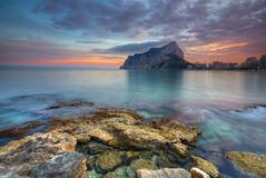 Sunset at Calpe (hapulcu) Tags: calp calpe espagne espanha españa ispanya mediterranean spagna spain valencia winter