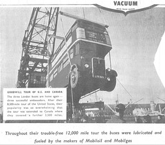 Mobiloil / Mobilgas advert 1952  RT2775. (Ledlon89) Tags: rt rtl bus buses aec leyland lt lte londontransport londonbus londonbuses 1952 usa canada tour 1950s