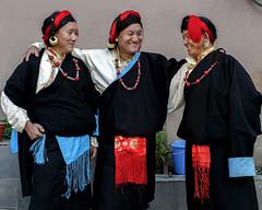 Men with their traditional costumes Tibet. (Tenzin Samphel) Tags: tibet tibetan traditional dress beautyoftibet colorsoftibet tibetanclothing yellowhats hats artist dancers tenzinsamphelphotography menwear chupa tibetanportraits tibetanphotographer kathmandu nepal