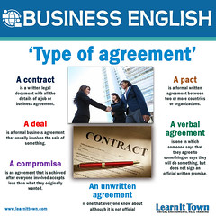 LIT BE Types of Agreements (Learn It Town) Tags: learn it town business english flashcards