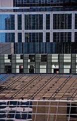 Corporate Ladder (Kurayba) Tags: edmonton alberta canada smcpda50135mmf28edifsdm pentax k1 da 50135 f28 corportate ladder pattern abstract buildings glass tower scotia td enbridge oxford reflection reflections kenko 14x teleconverter