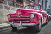 Pink Ford (kuhnmi) Tags: pink rosa ford car auto automobil oldtimer fahrzeug color colorful leuchtend alt old havana havanna habana cuba kuba street strasse strassenrand front frontal perspective pov pointofview perspektive blickwinkel wideangle weitwinkel markenzeichen clean sauber taxi cab