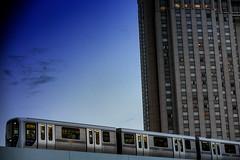 A Train Passes In Odaiba, Tokyo (El-Branden Brazil) Tags: tokyo japan odaiba train skyscraper asia japanese city urban sky